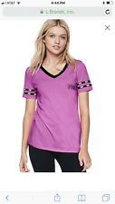 NEW Victorias Secret PINK Black Friday Perfect V neck Tee Shirt Top Dazzle