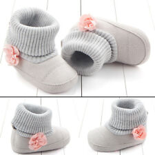 Soft Shoes Booties Toddler Kid 0-12M Infant Baby Snow Boots Boy Girl