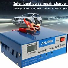 Car Battery Charger Automatic Intelligent 12V 24V Lead Acid Pulse Repair New