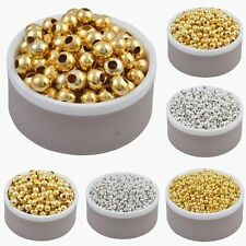 Wholesale Silver/Gold Plated Round Spacer Beads Jewelry Findings 2.5/3/4/5/6mm
