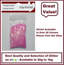 PINK GLITTER - BULK PACKS - NAIL ART - WINE GLASS - ARTS & CRAFTS 100g - 1Kg