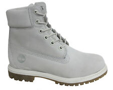Timberland AF 6 Inch Prem Lace Up Grey Nubuck Leather Womens Boots A196R T4