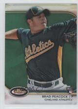 2012 Topps Finest Green Refractor #51 Brad Peacock Oakland Athletics Rookie Card