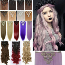 Extra Natural Full Head Synthetic Hair Clip in Hair Extensions 120G Real Thick