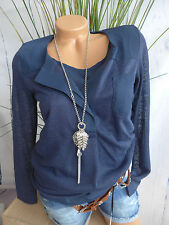 Heine Pullover Sweater and Top Size 34 - 38 Blue Tone 2 Piece (871) NEW