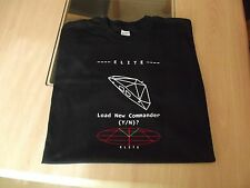RETRO GAMERS BLACK T SHIRT ELITE COMMANDER DESIGN bbc microgame c64 S M L XL XXL