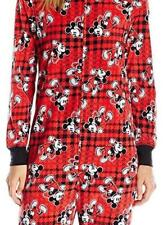 NEW~Women-MICKEY MOUSE~One Piece~Non Footed~Flannel ZIPPER Pajamas~Large~$70 Tag