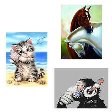 DIY 5D Animal Diamond Painting Mosaic Embroidery Cross Stitch for Home Decor