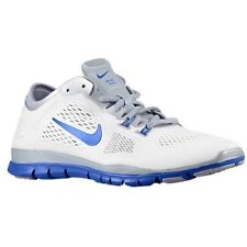 Nike Free 5.0 Tr Fit 4 Team White Game Royal Wolf Grey Womens Running Shoes 6 M