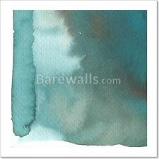 Blue, Brown, Abstract Background Art Print/Canvas Print Home Decor Wall Art