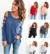 Sexy Women Ladies Loose Casual Long Sleeve T-Shirt Cotton Blouse Tops T-Shirt