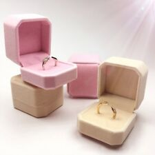 Octagonal Engagement Wedding Earring Ring Pendant Jewelry Display Chic Box Gift
