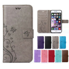 Womens Magnetic Flip Silicone Flower Leather Shockproof Case Cover For iPhone