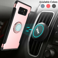 Car Vent Mount Holder+Shockproof Ring Stand Phone Case For Samsung Galaxy Note 8