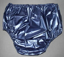 PVC Incontinence Diaper Rubber Underwear Adult Baby Blue Metallic