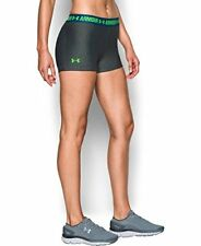 Under Armour Women's HeatGear Armour Shorty, Carbon Heather/Heron, Small