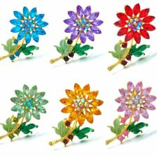 Fashion Flower Crystal DIY Bouquet Wedding Brooch Pin Mother's Day Gift Jewelry