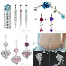 Belly Bar Dangle Reverse Body Piercing Jewellery Rings Navel Belly Bars Surprise
