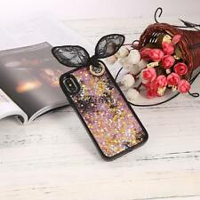 3D Rabbit Ear Quicksand with Sequins Stars Hard Case with Bead Sling For TXGB