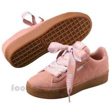 Puma Vikky Platform Ribbon Bold 365314 02 Womens Shoes Peach Beige Sneakers Pink