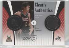 2006 Fleer EX Clearly Authentics Patch CA-EI Ersan Ilyasova Milwaukee Bucks Card