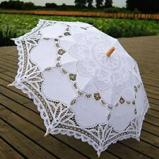Handmade Lace Embroidered Parasol Umbrella Bridal Wedding Bridal Party Decor AU