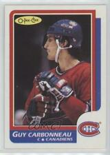 1986-87 O-Pee-Chee #176 Guy Carbonneau Montreal Canadiens Hockey Card
