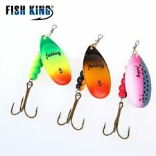 1PC Fishing Lure Mepps Spinner bait Spoon Lures With Mustad Treble Hooks