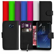 Samsung Galaxy S8 FITS Case Premium Leather Wallet Flip Case Mini Stylus SP