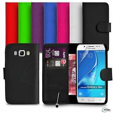 Samsung Galaxy J5 2016 FITS Case Premium Leather Wallet Flip Case Mini Stylus SP