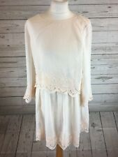 VILLA CLOTHES Midi Dress with laces PINK LIGHT SIZE 10
