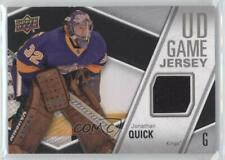 2011-12 Upper Deck UD Game Jersey #GJ-JQ Jonathan Quick Los Angeles Kings Card
