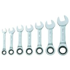 Pittsburgh Metric & SAE Stubby Combination Wrench Set Ratcheting Multi-Piece