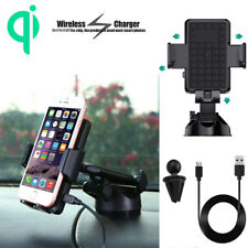 Qi Wireless Fast Car Charger Air Vent Mount Holder For Samsung S8 Note8 iPhone X