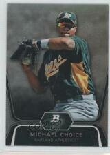2012 Bowman Platinum Prospects Refractor #BPP8 Michael Choice Oakland Athletics