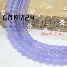 "Natural Gemstone Purple Jade Stone Beads Strand 15"" Wholesale Jewelry Making"
