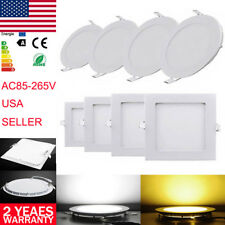 Downlight Ceiling Panel LED Light Flat Fixtures Slim Bulbs Lamp Recessed Kitchen