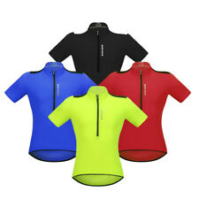 Cycling Short Sleeve Jersey Top T-shirt Quick-Dry Bicycle Clothing with Pockets