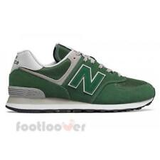 New Balance 574 ML574EGR Mens Shoes Green Suede Nylon Running Casual Sneakers