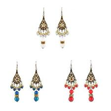 Fashion Chandelier Earrings Women Boho Tassel Beads Dangle Indian Earrings