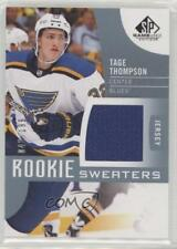 2017 Upper Deck SP Game Used Rookie Sweaters RS-TT Tage Thompson St. Louis Blues
