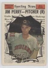 1961 Topps #584 Jim Perry (All-Star) Cleveland Indians Baseball Card