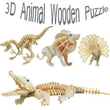 Wooden DIY 3D Puzzles Animals