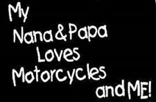 papa nana love motorcycle t shirt kid one piece baby shower gift biker US sz new