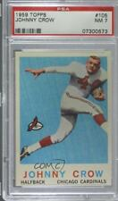 1959 Topps #105 John David Crow PSA 7 NM Chicago Cardinals RC Football Card
