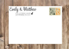 Personalized Script First Names Stars Self-Inking Rubber Return Address Stamp