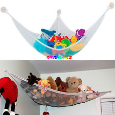 Jumbo Deluxe Pet Organizer Corner Stuffed Animal Baby Kids Toy Hammock Net Hooks