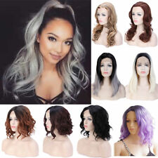 Hot Ombre Gray Lace Front Wig Straight Long Hair Cosplay Party Wigs For Women Z2
