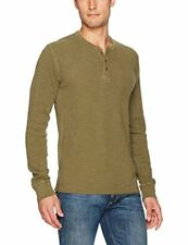 Lucky Brand Men's Lived In Thermal Henley Shirt, Dark Olive
