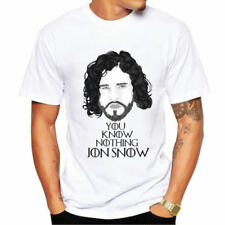 Fashion Men Game of Throne Role John Snow Print Short Sleeve T-shirt Casual Tees